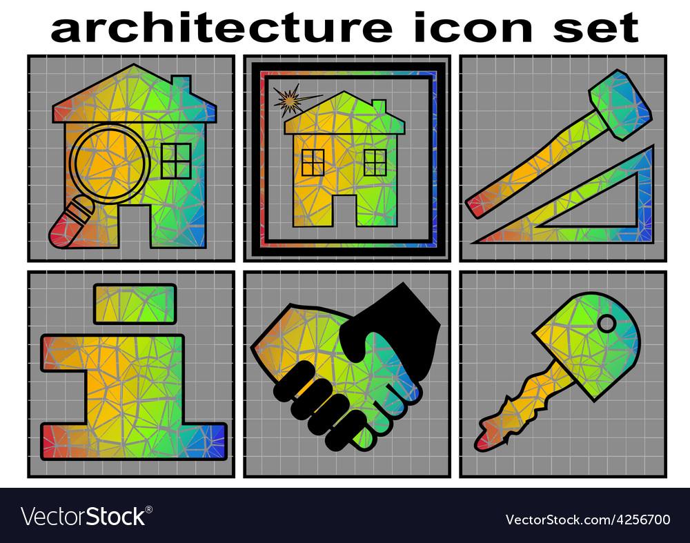 Architecture icon set vector | Price: 1 Credit (USD $1)