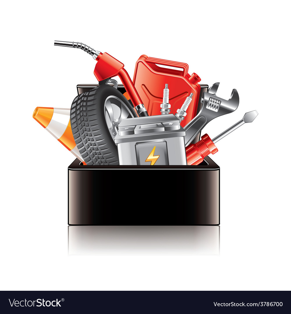 Auto parts box isolated vector | Price: 3 Credit (USD $3)