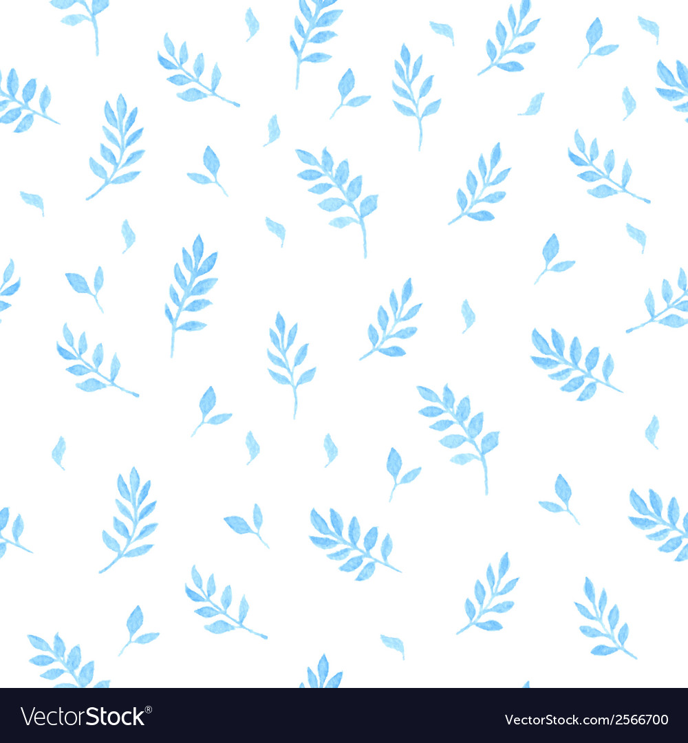 Beautiful watercolor seamless pattern with leaves vector | Price: 1 Credit (USD $1)