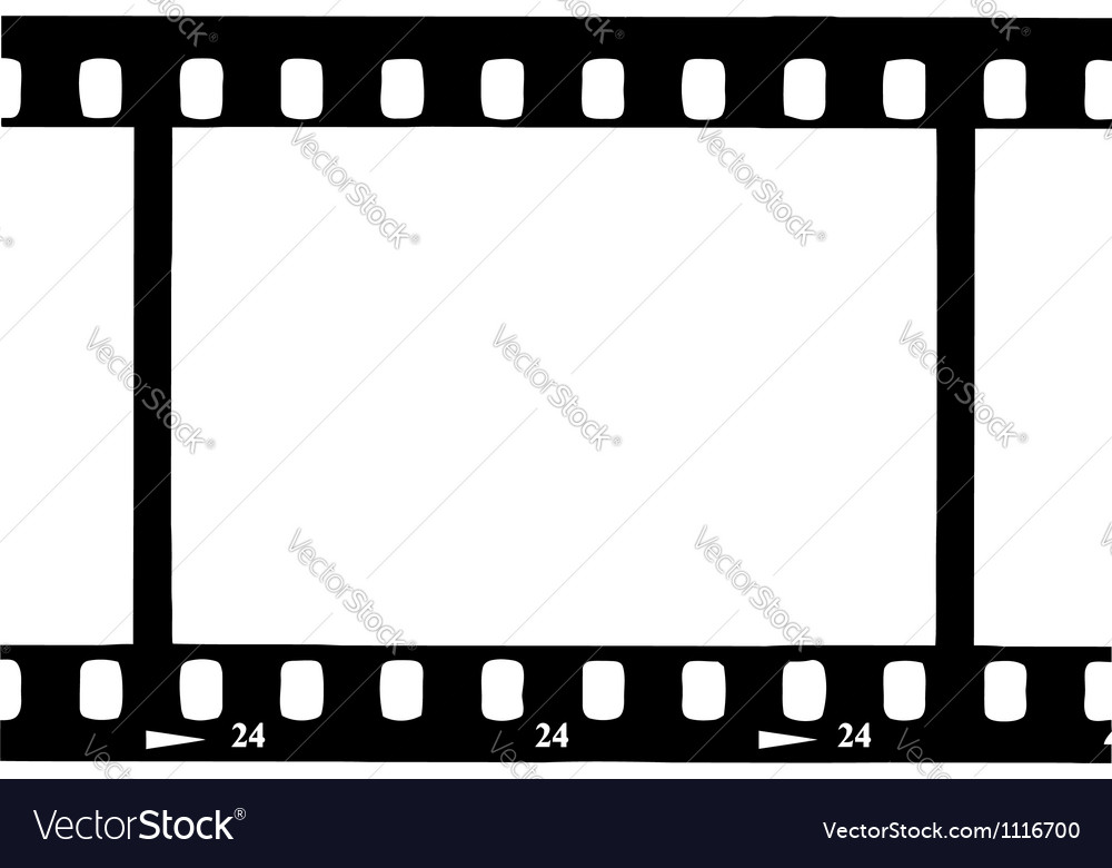 Black film strip vector | Price: 1 Credit (USD $1)