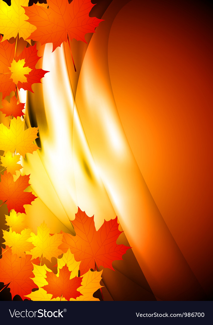 Bright autumn design vector | Price: 1 Credit (USD $1)