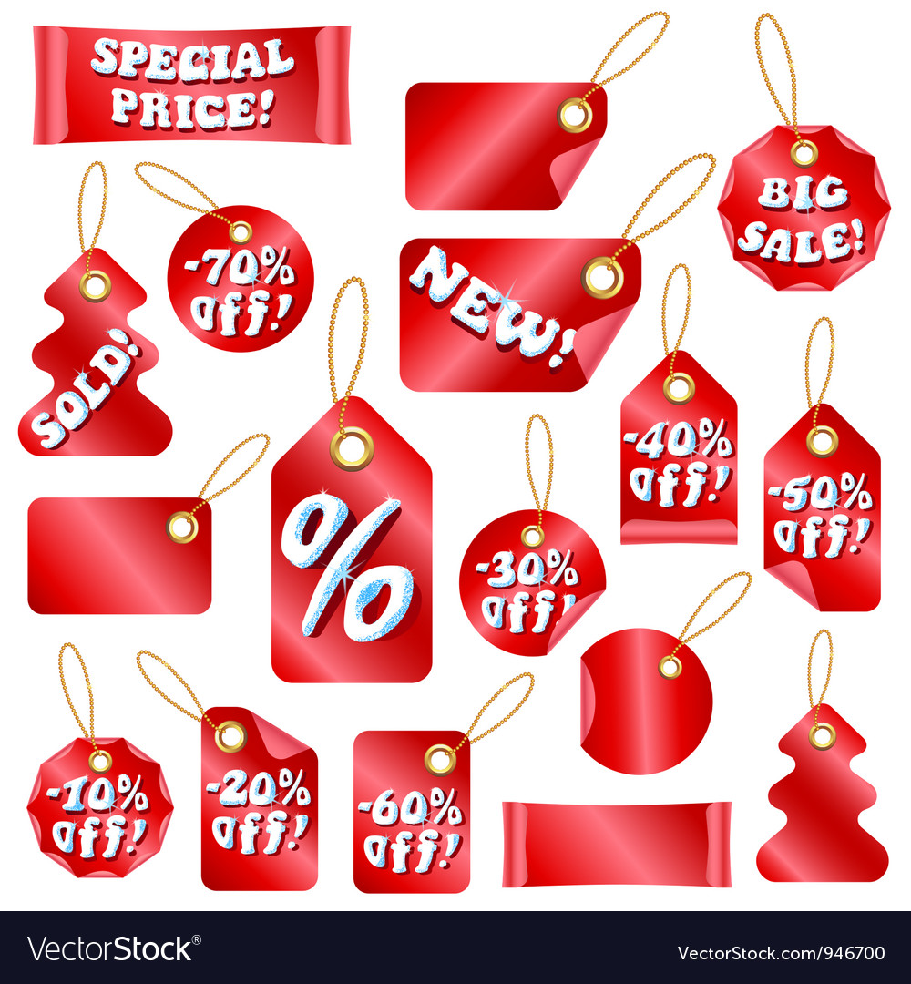 Christmas sale tags vector | Price: 1 Credit (USD $1)