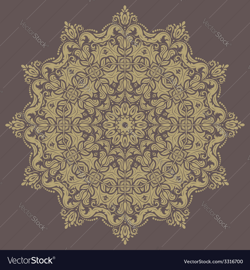 Floral pattern orient abstract background vector | Price: 1 Credit (USD $1)