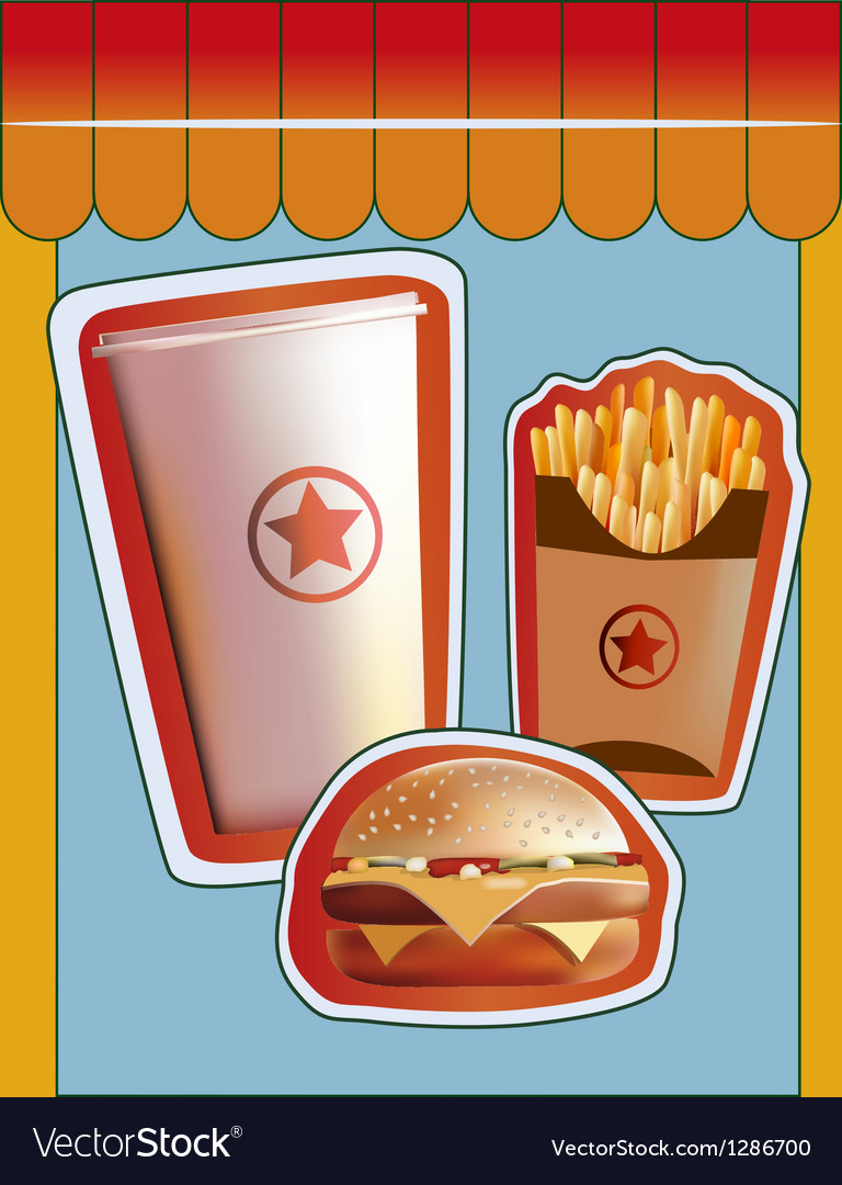 Grunge cover for fast food menu vector | Price: 3 Credit (USD $3)