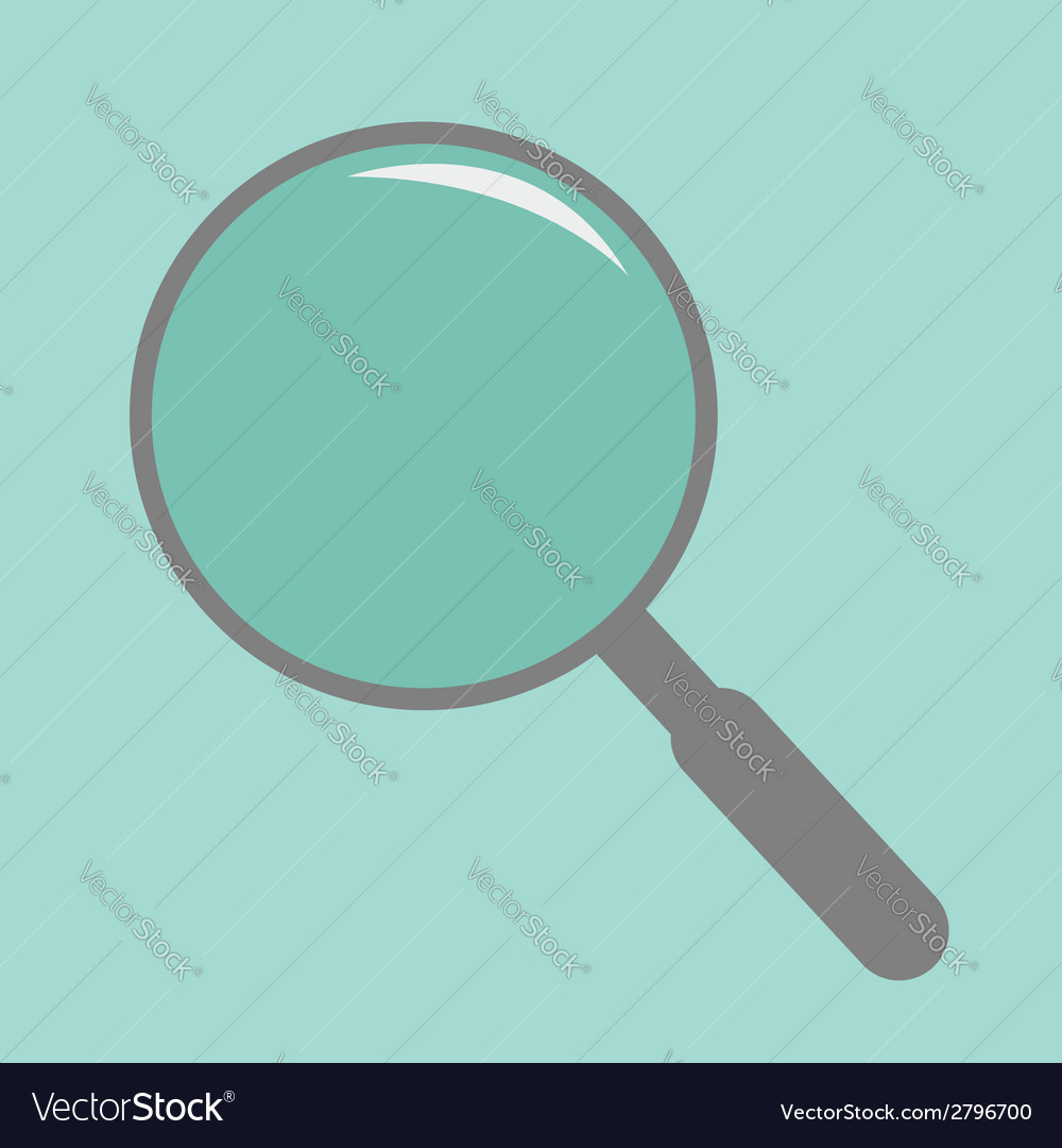 Magnifier empty flat design style vector | Price: 1 Credit (USD $1)