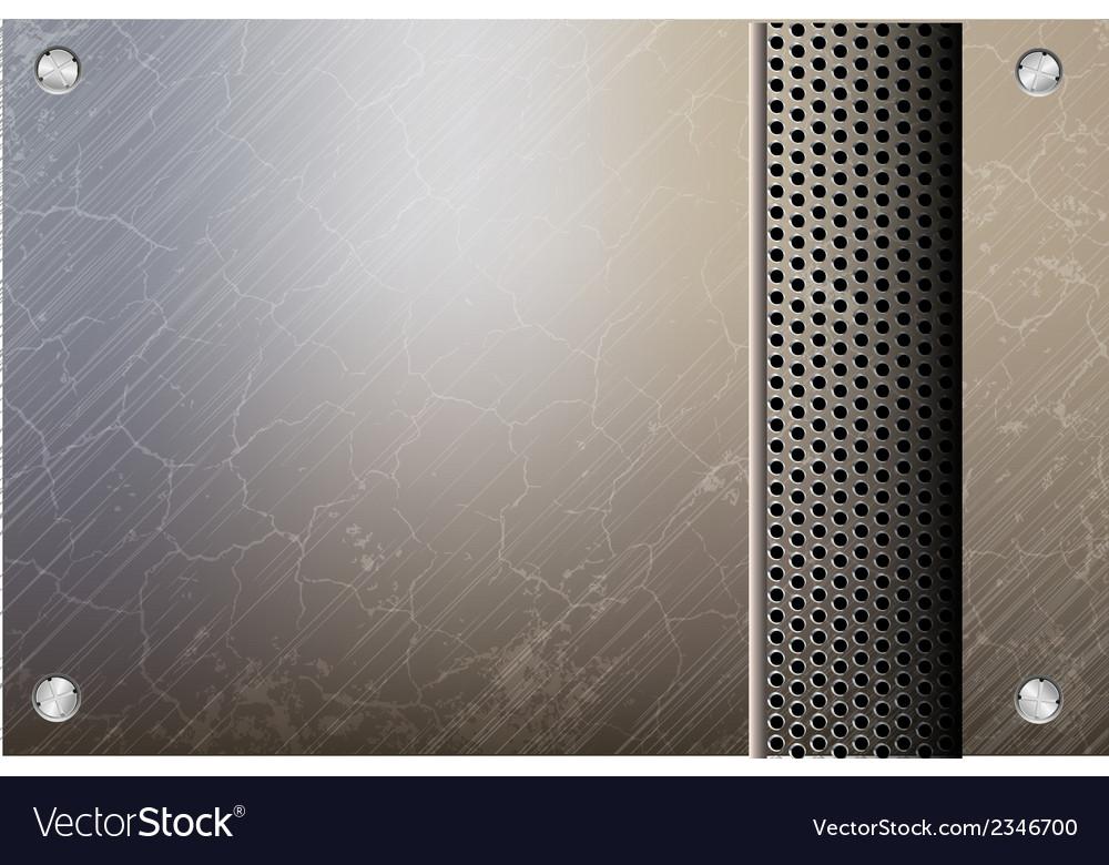Metallic steel background vector | Price: 1 Credit (USD $1)
