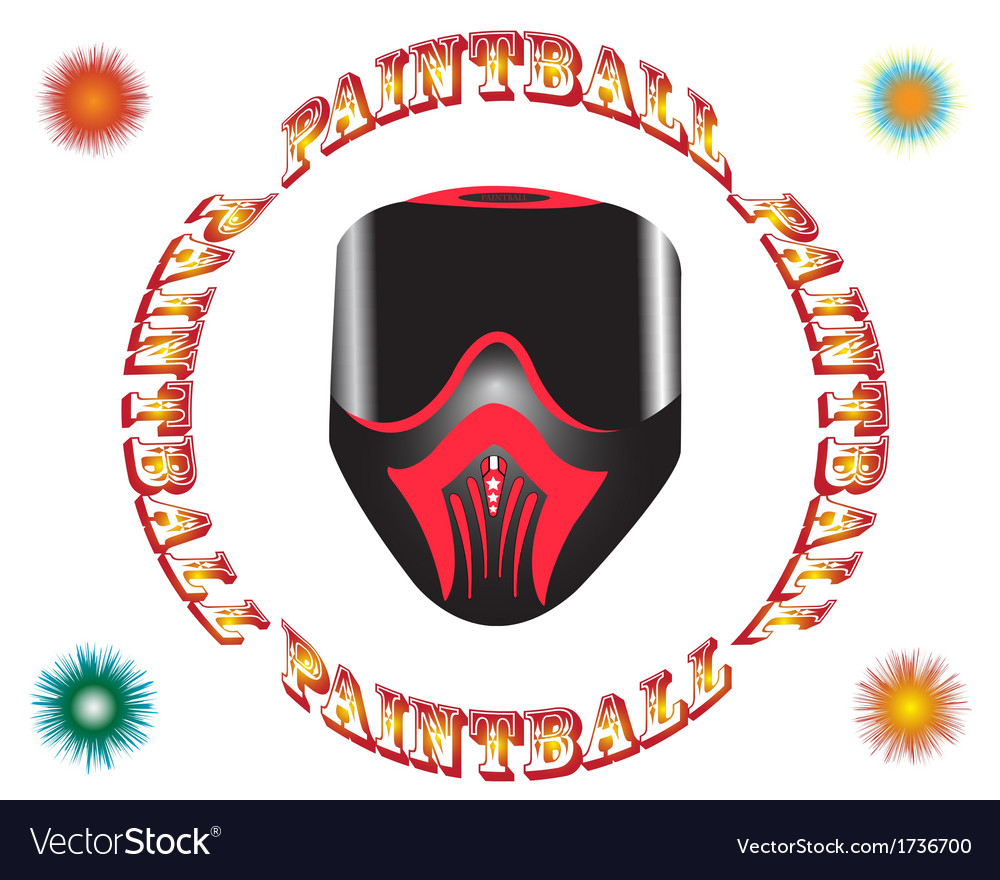 Paintball mask vector | Price: 1 Credit (USD $1)