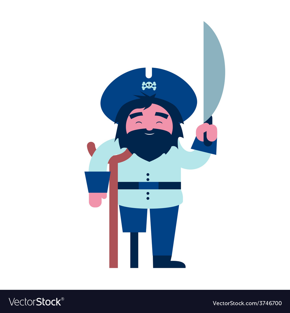 Pirate character vector | Price: 1 Credit (USD $1)