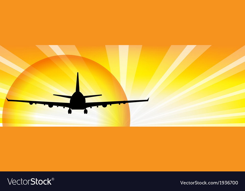 Plane and sun vector | Price: 1 Credit (USD $1)
