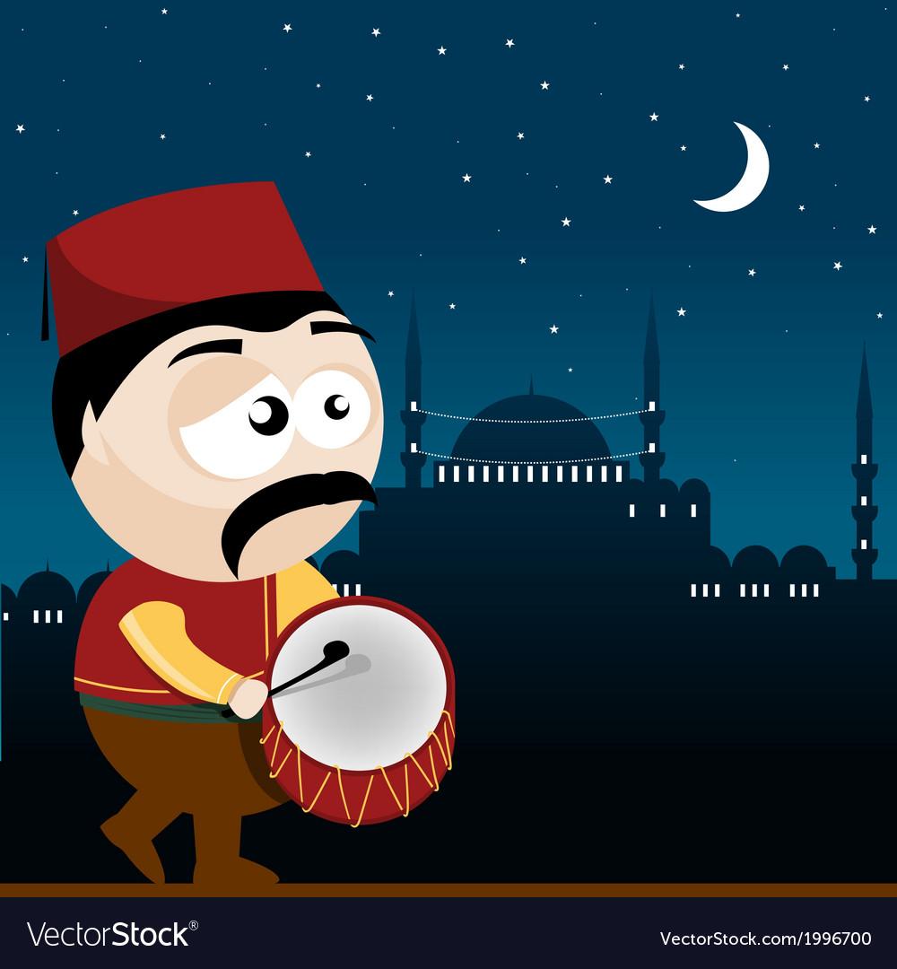 Ramadan drummer vector | Price: 1 Credit (USD $1)