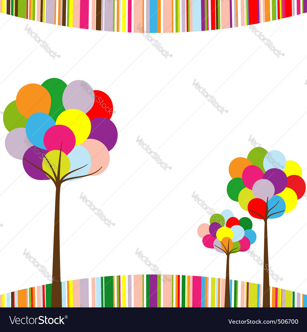 Springtime border vector | Price: 1 Credit (USD $1)