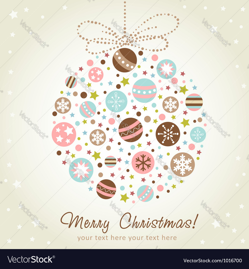 Stylized design christmas decoration vector | Price: 1 Credit (USD $1)