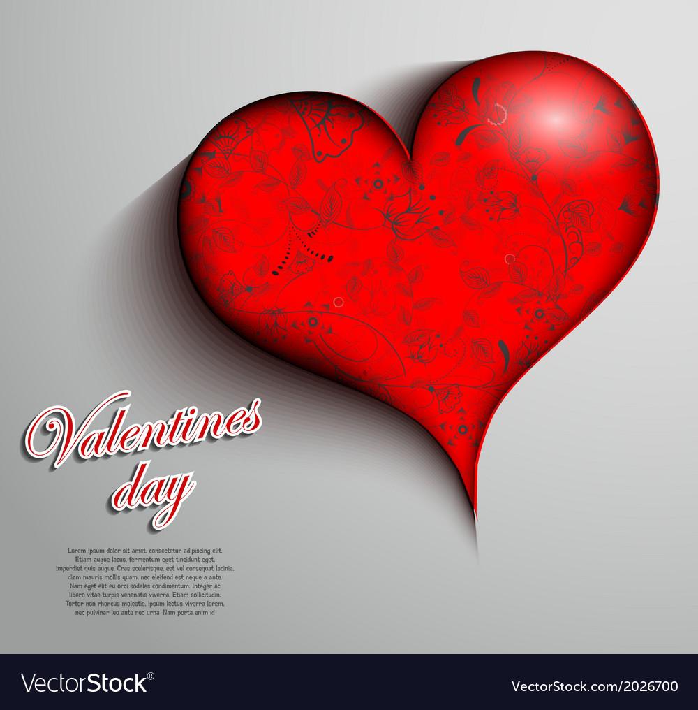 Valentines card design vector | Price: 1 Credit (USD $1)