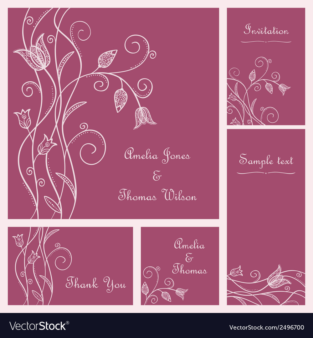 Wedding card set vector | Price: 1 Credit (USD $1)