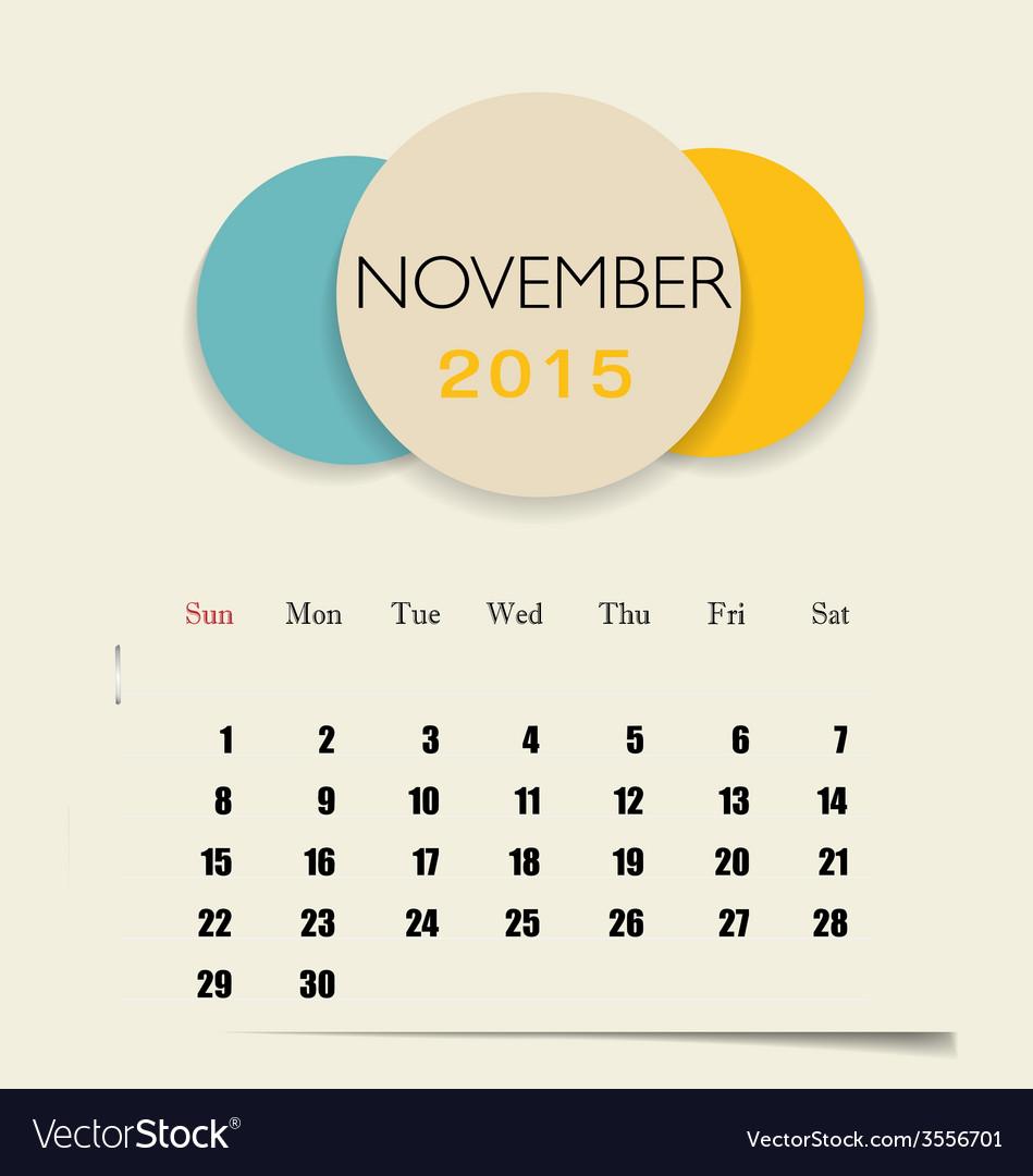 2015 calendar monthly calendar template for vector   Price: 1 Credit (USD $1)