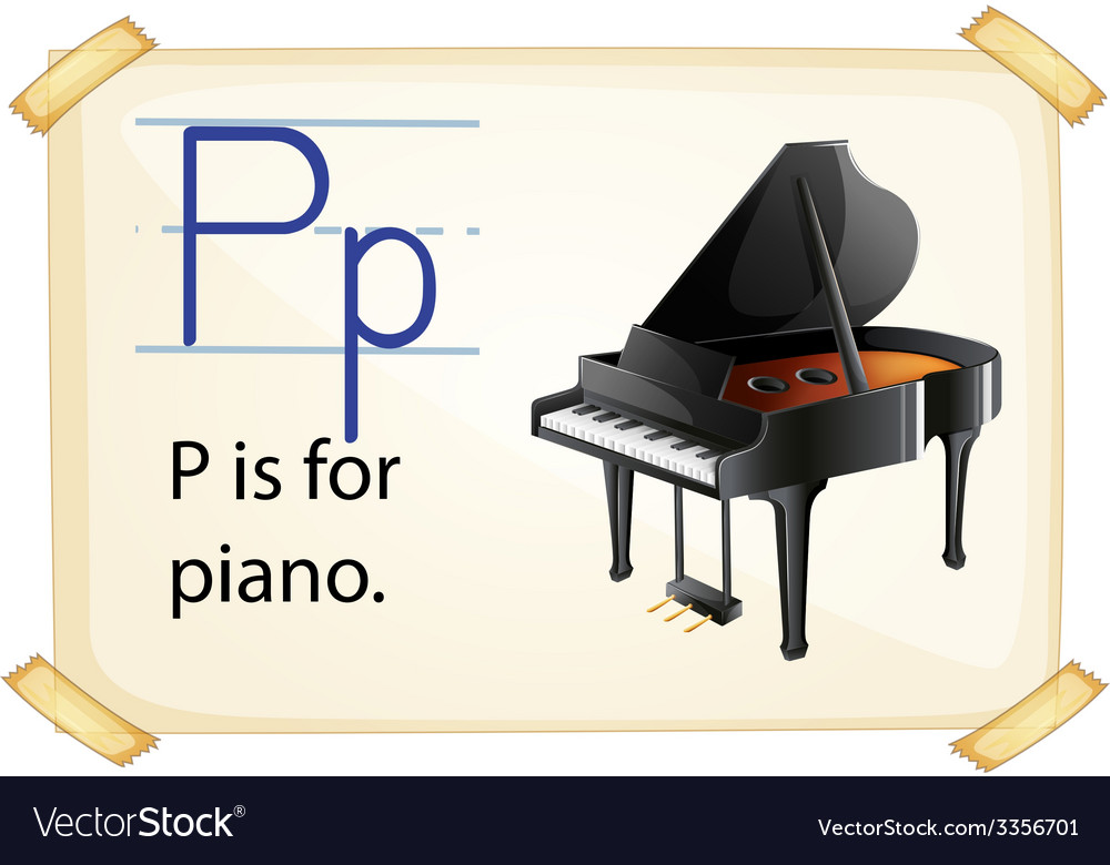 A letter p for piano vector | Price: 3 Credit (USD $3)