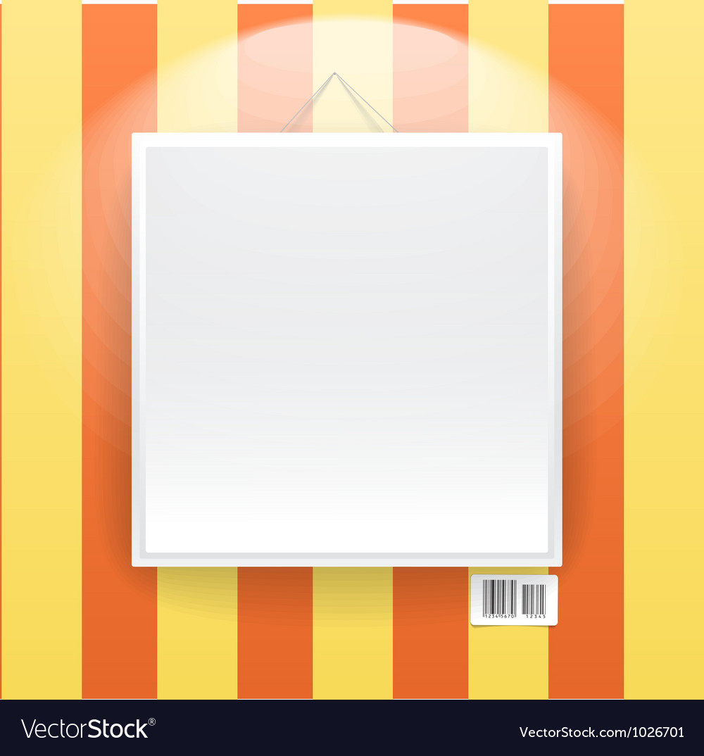 Blank frame on the wall of line wallpapers vector | Price: 1 Credit (USD $1)