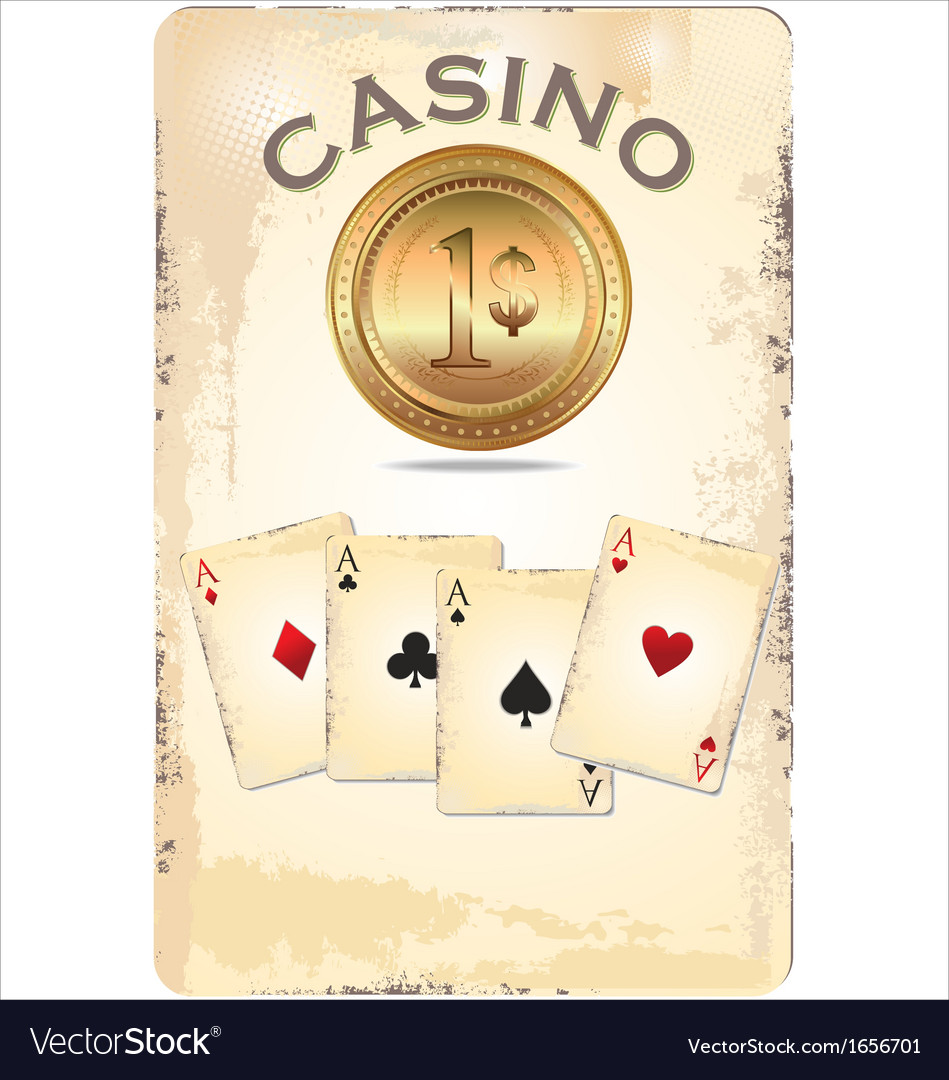 Casino poster vector | Price: 1 Credit (USD $1)