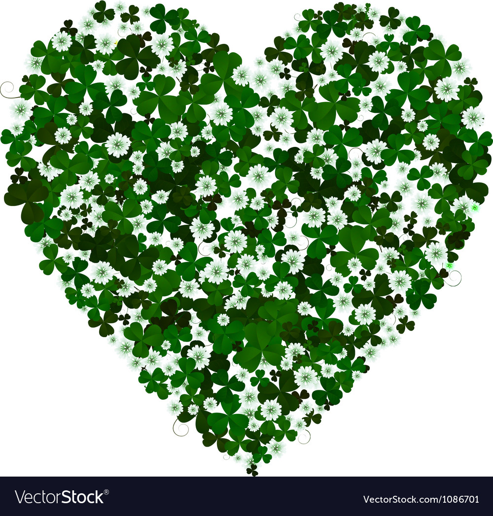 Clover heart vector | Price: 1 Credit (USD $1)