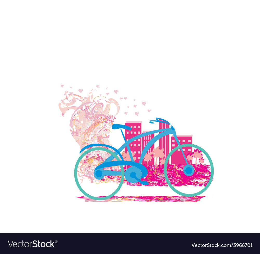 Cute card with bike vector | Price: 1 Credit (USD $1)