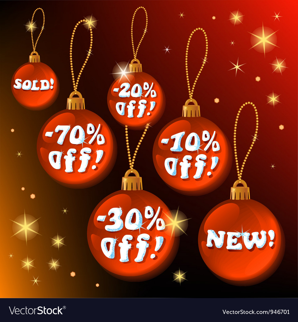 Discount christmas vector | Price: 1 Credit (USD $1)