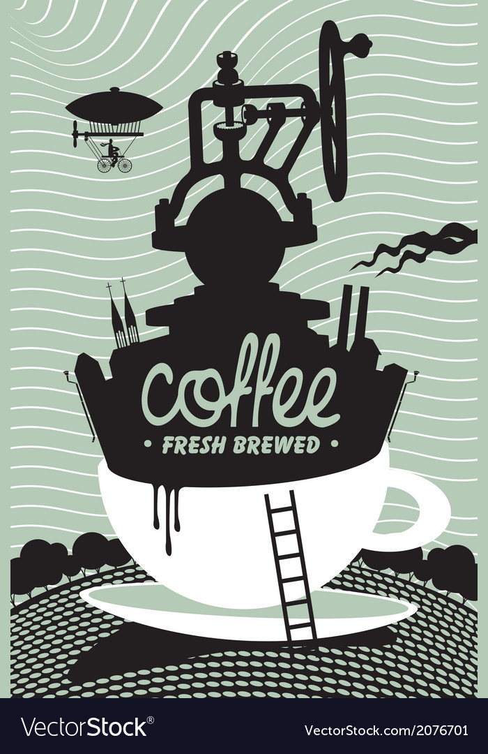 Fresh coffee preparation vector | Price: 1 Credit (USD $1)