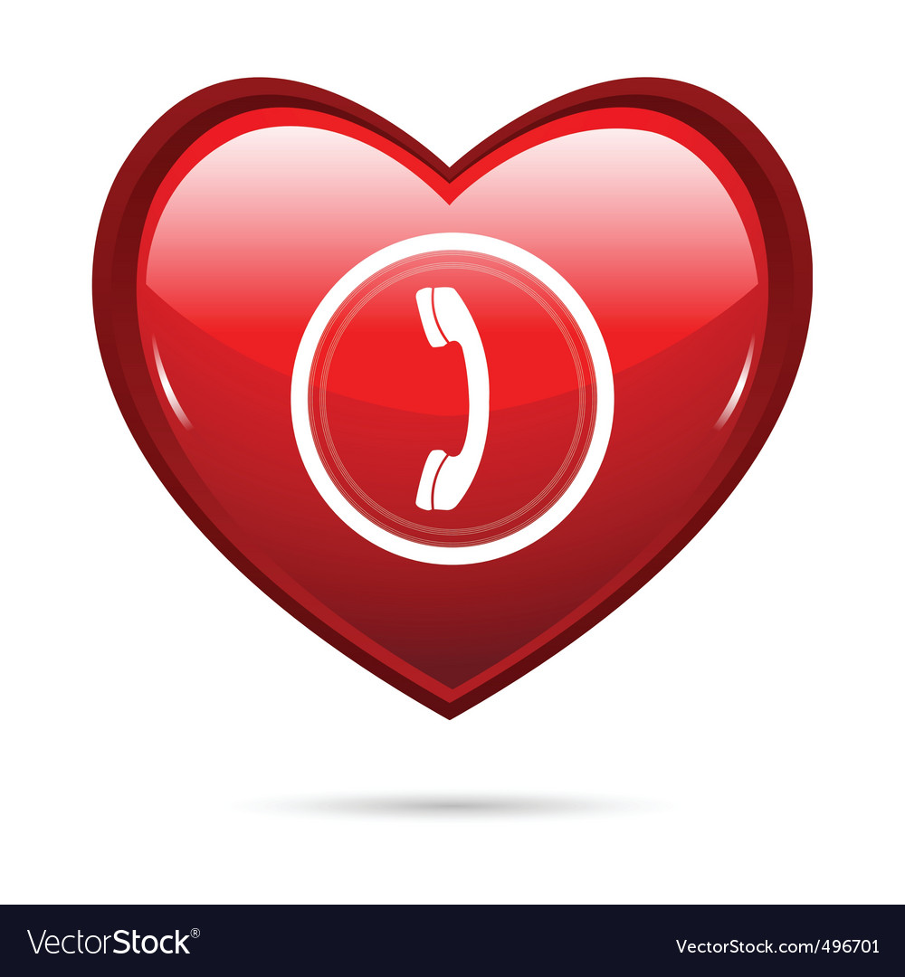Heart calling vector | Price: 1 Credit (USD $1)