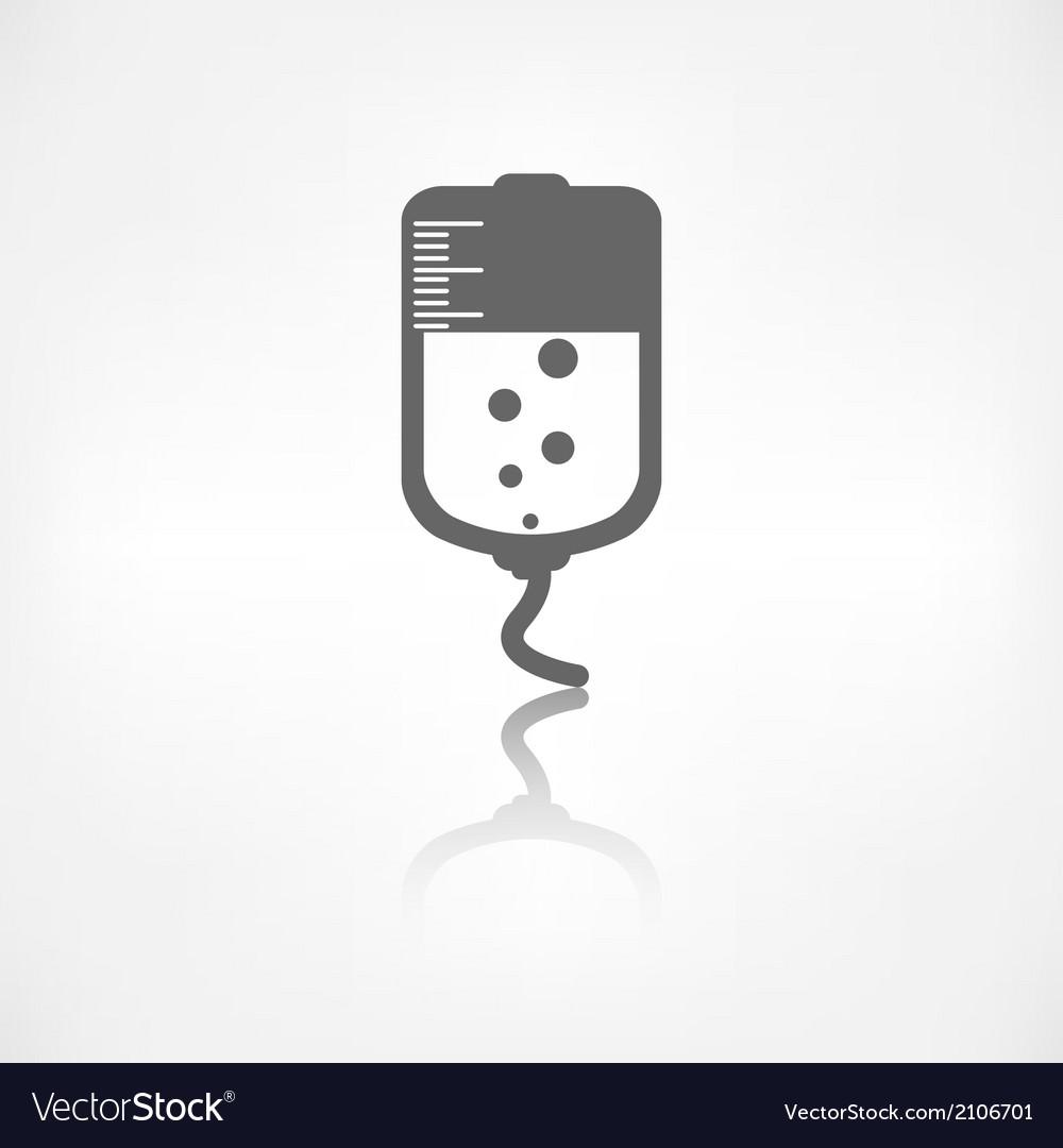 Medical dropper web icon vector | Price: 1 Credit (USD $1)