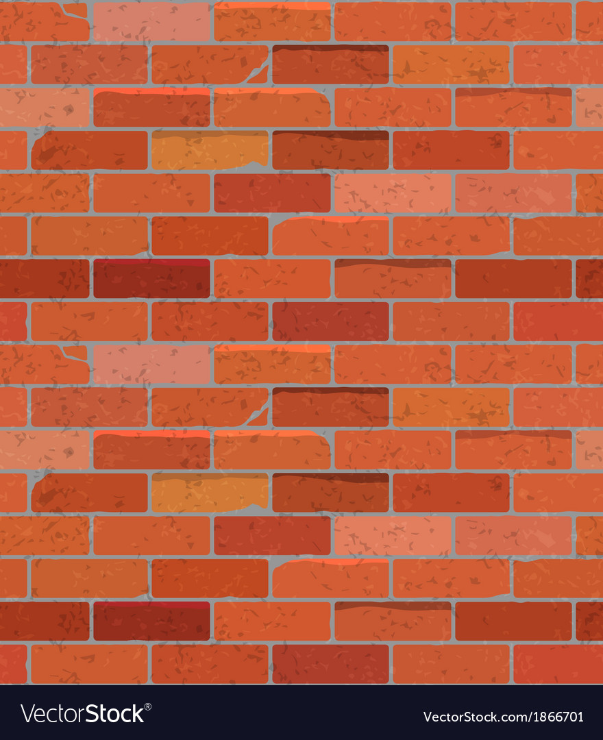 Red brick wall seamless pattern background vector | Price: 1 Credit (USD $1)