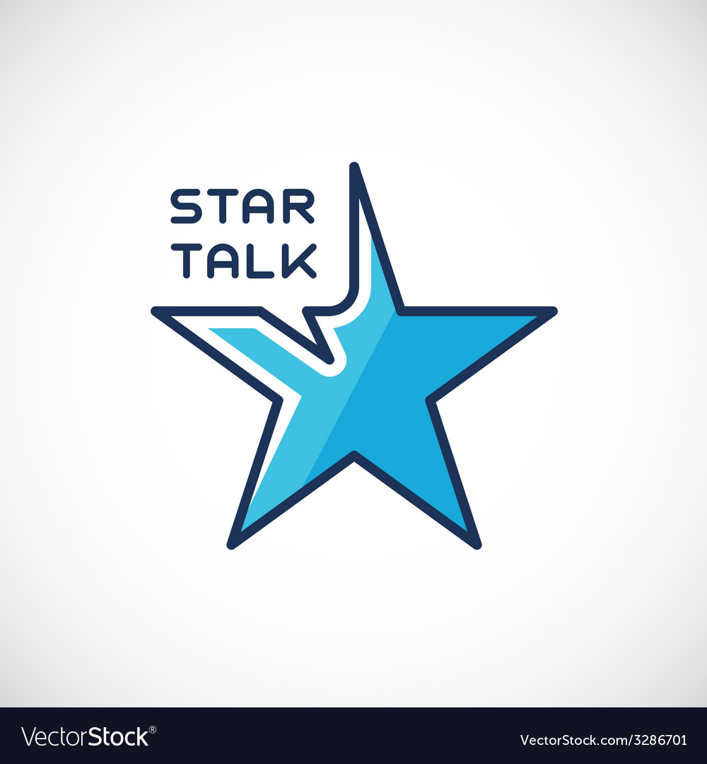 Star talk abstract logo template vector | Price: 1 Credit (USD $1)