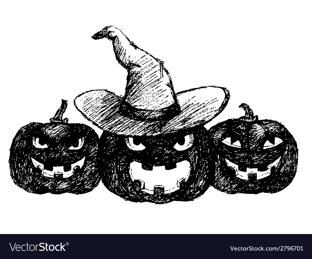 Three pumpkins vector | Price: 1 Credit (USD $1)