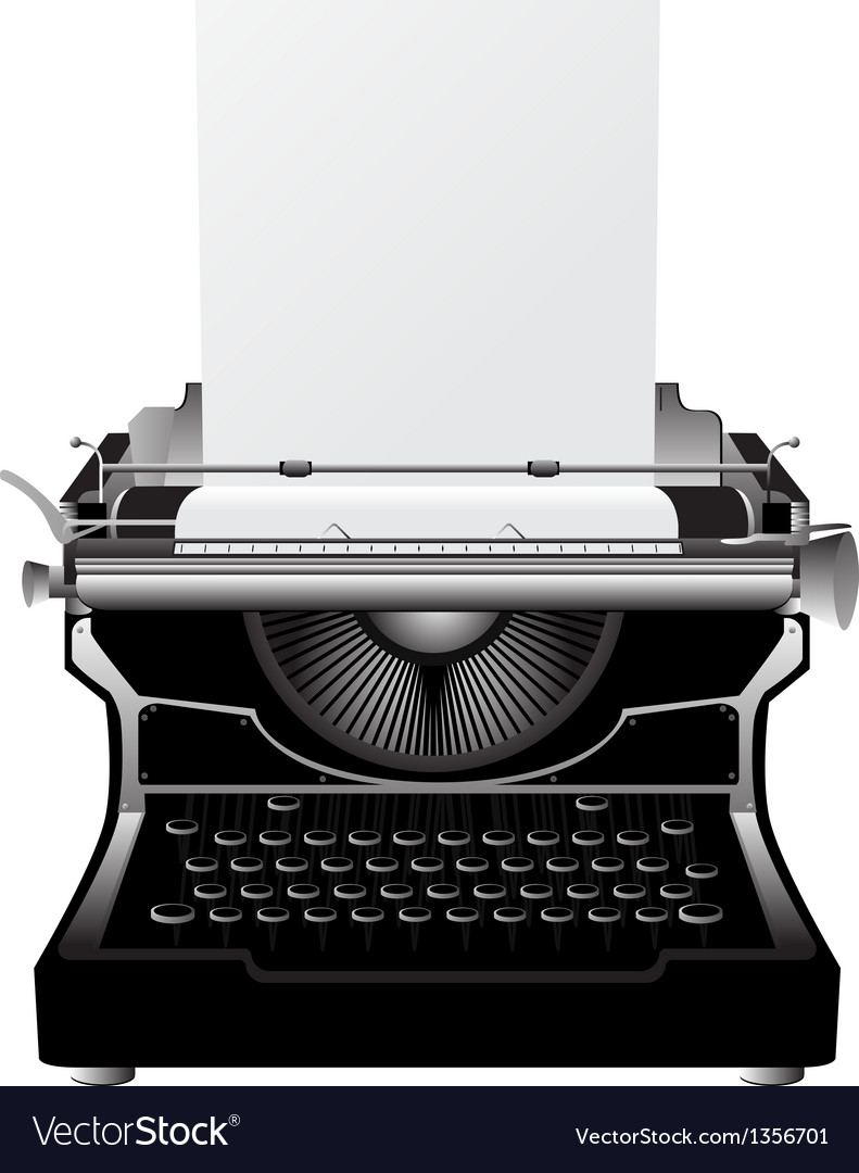 Vintage typewriter vector | Price: 1 Credit (USD $1)