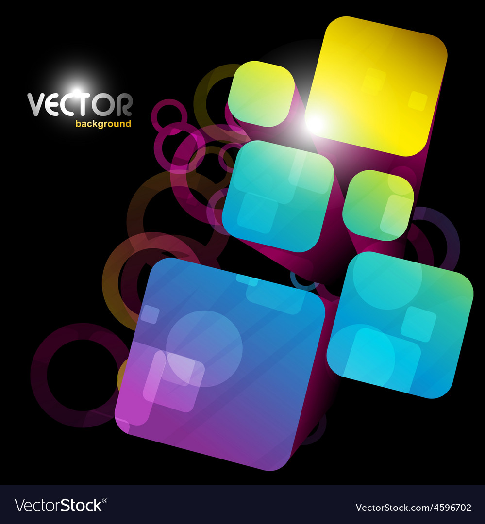 Abstract square shape vector | Price: 1 Credit (USD $1)