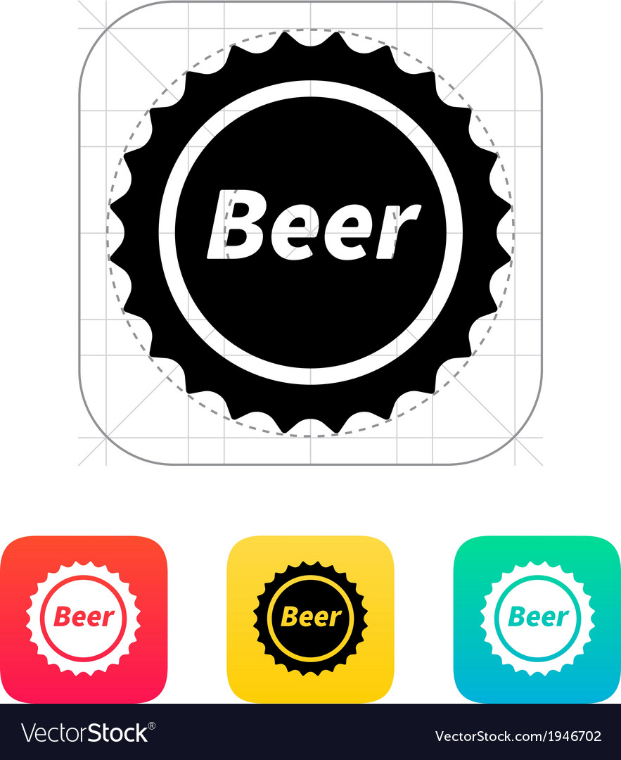 Beer bottle cup icon vector | Price: 1 Credit (USD $1)