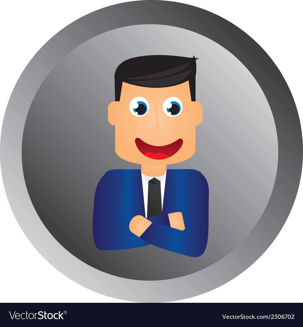 Businessman button vector | Price: 1 Credit (USD $1)