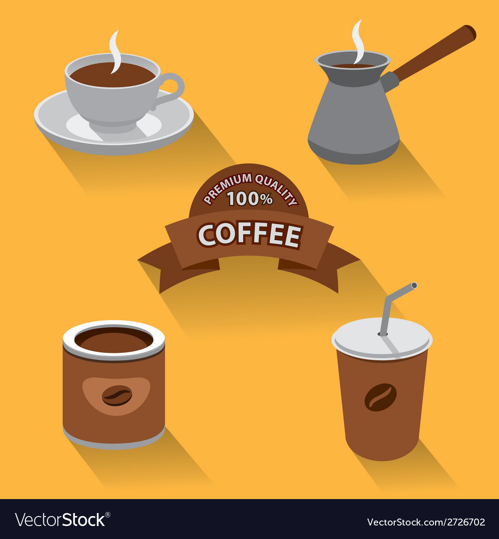 Coffee icon set vector | Price: 1 Credit (USD $1)