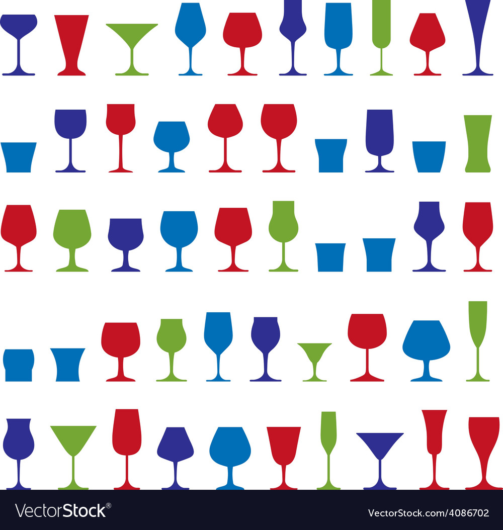 Decorative drinking glasses collection set of vector   Price: 1 Credit (USD $1)