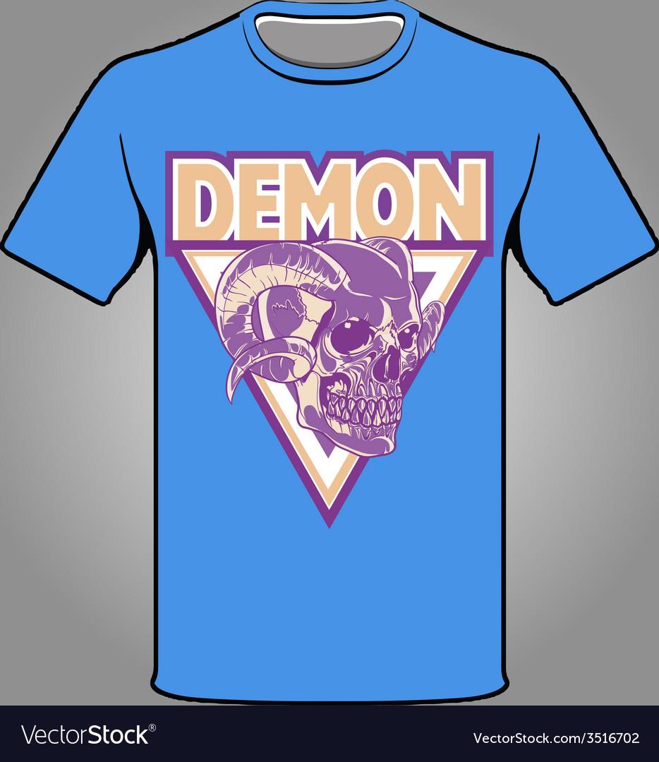 Demon theme t-shirt vector | Price: 1 Credit (USD $1)