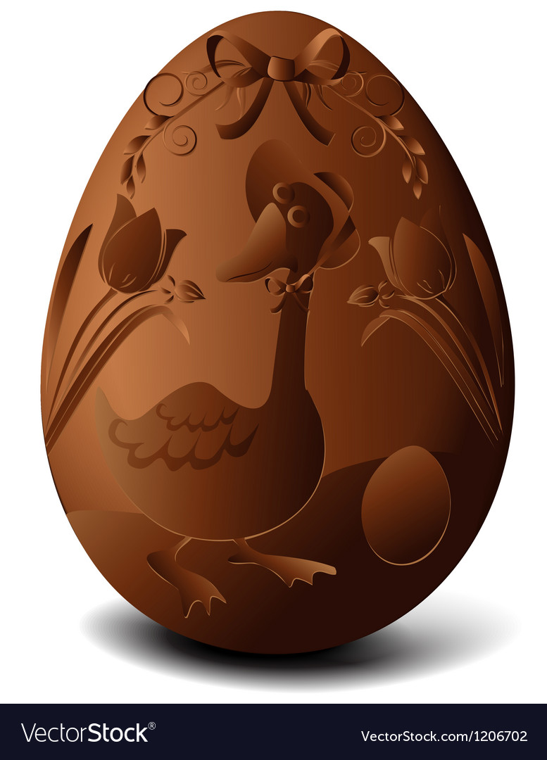 Easter chocolate egg vector | Price: 1 Credit (USD $1)