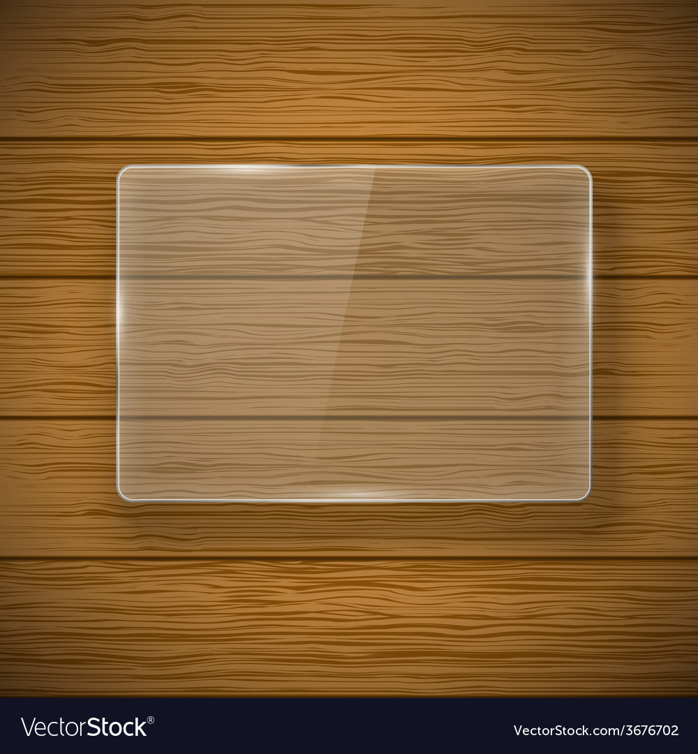 Glass framework and wood texture vector | Price: 1 Credit (USD $1)