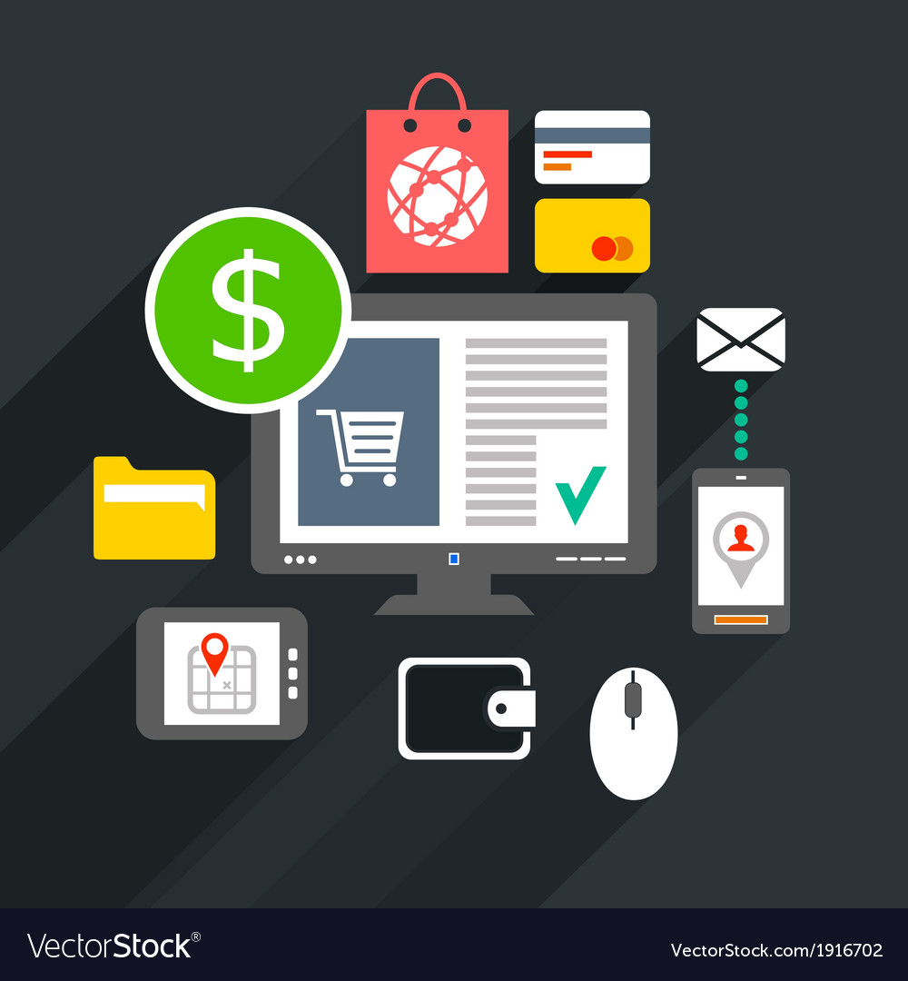 Internet purchase vector | Price: 1 Credit (USD $1)