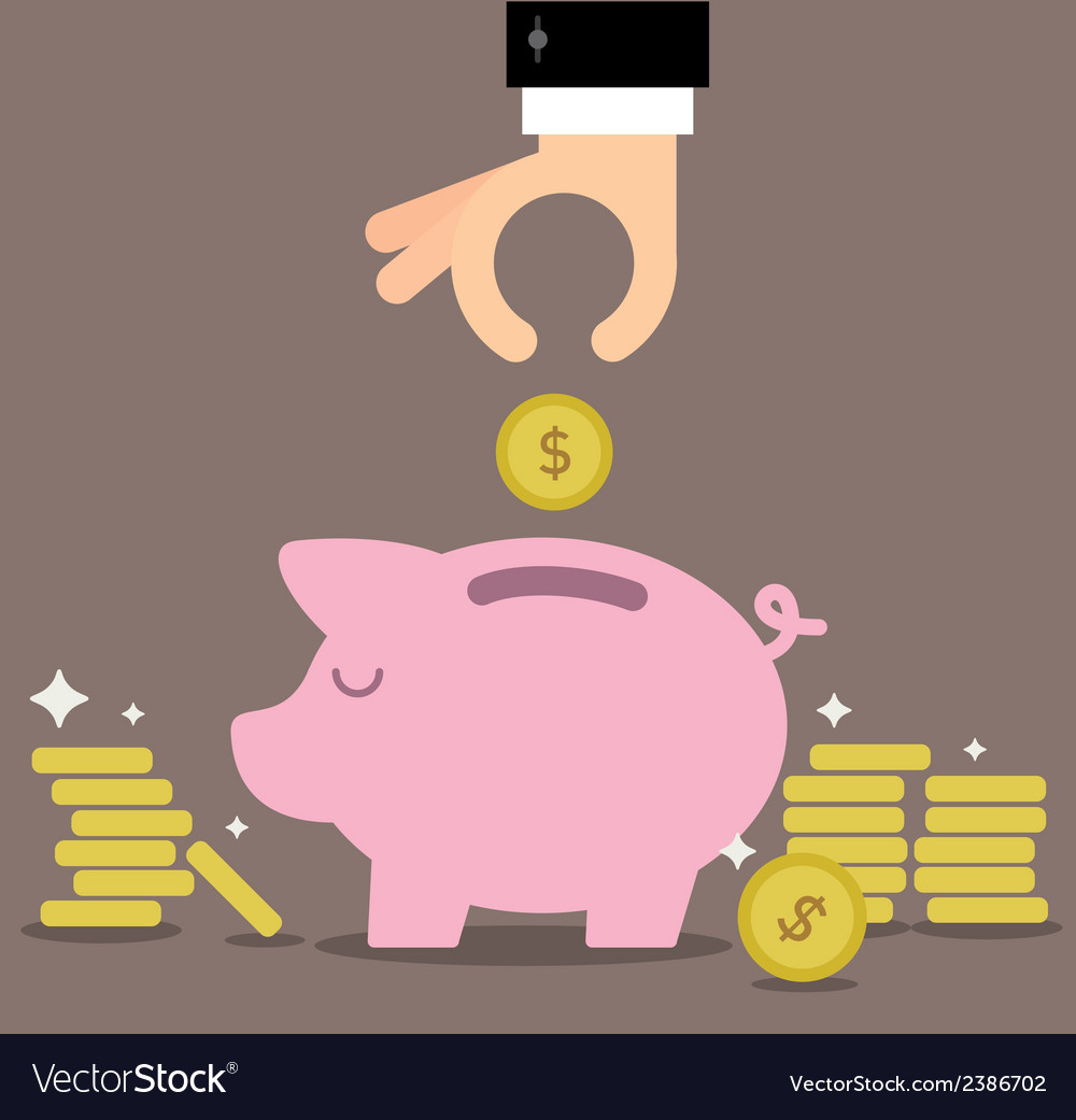 Piggy bank savings vector | Price: 1 Credit (USD $1)