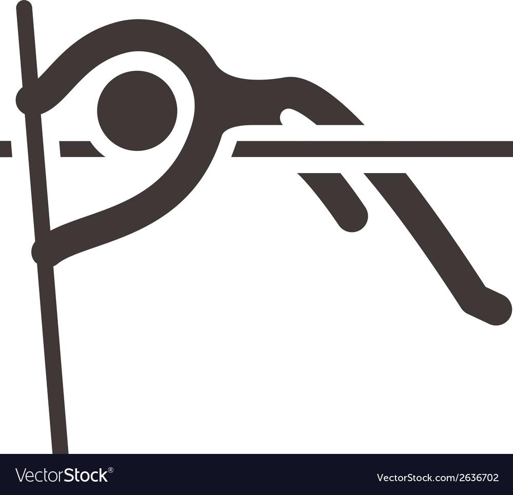 Pole vault icon vector | Price: 1 Credit (USD $1)
