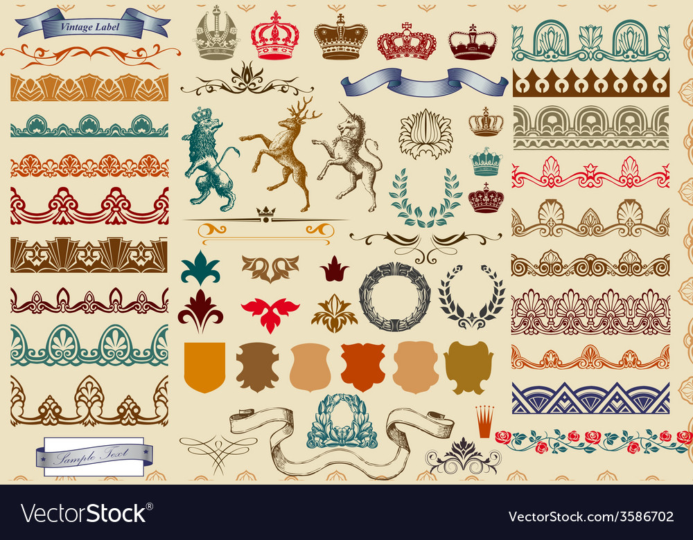 Set of page decoration vector | Price: 1 Credit (USD $1)