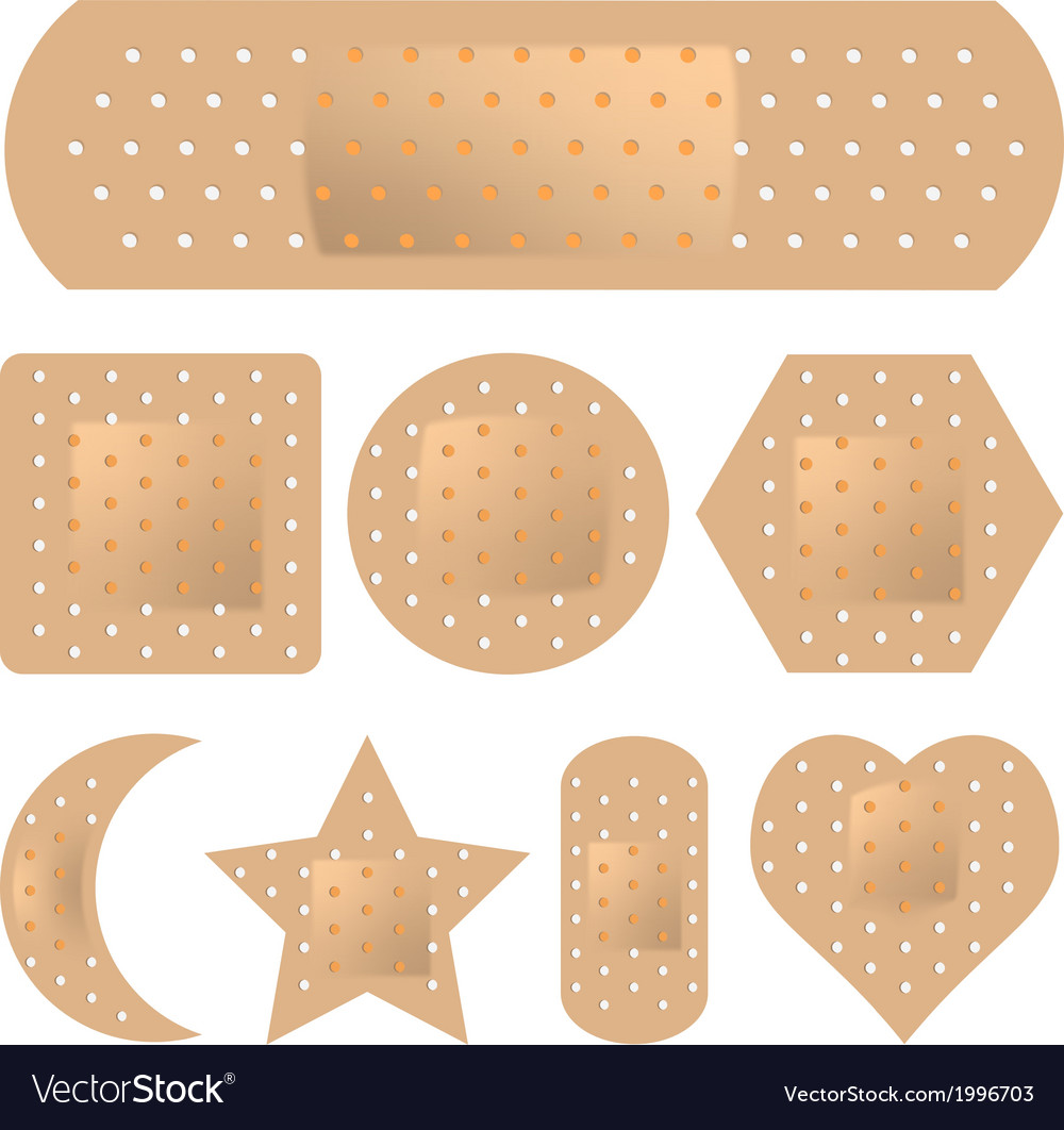 Adhesive bandage set vector | Price: 1 Credit (USD $1)