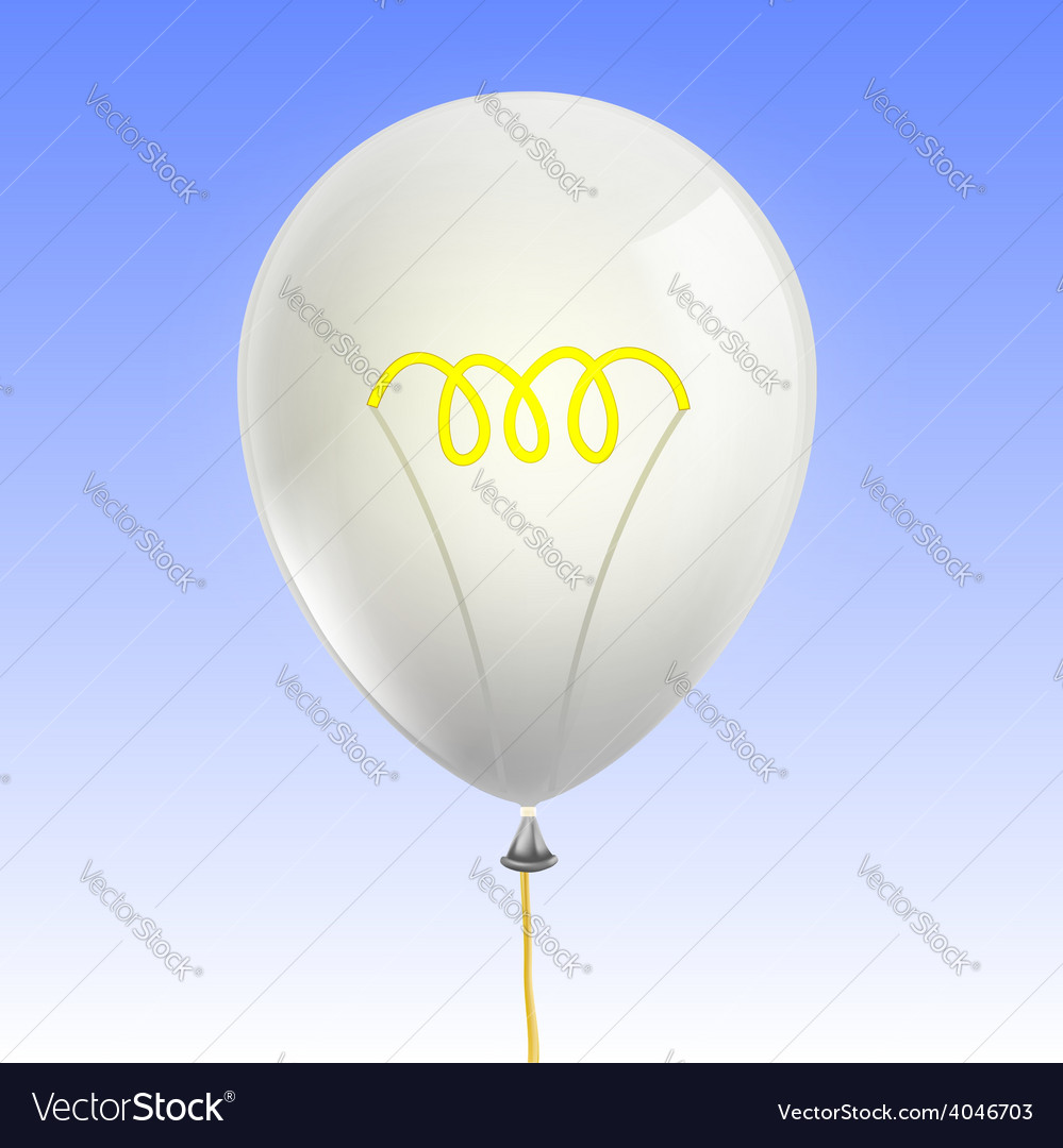 Balloon in the form of an incandescent lamp vector | Price: 1 Credit (USD $1)