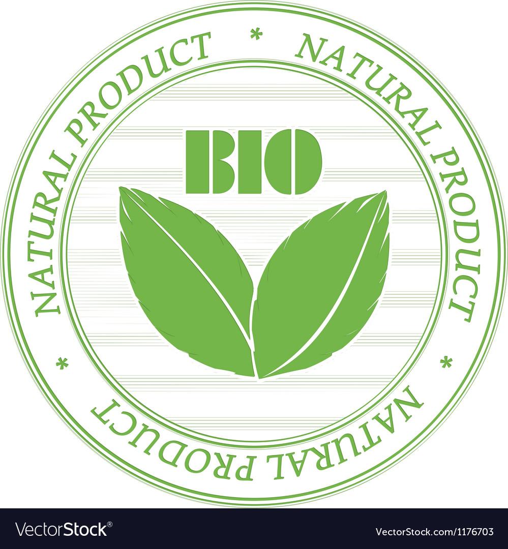 Bio stamp vector | Price: 1 Credit (USD $1)