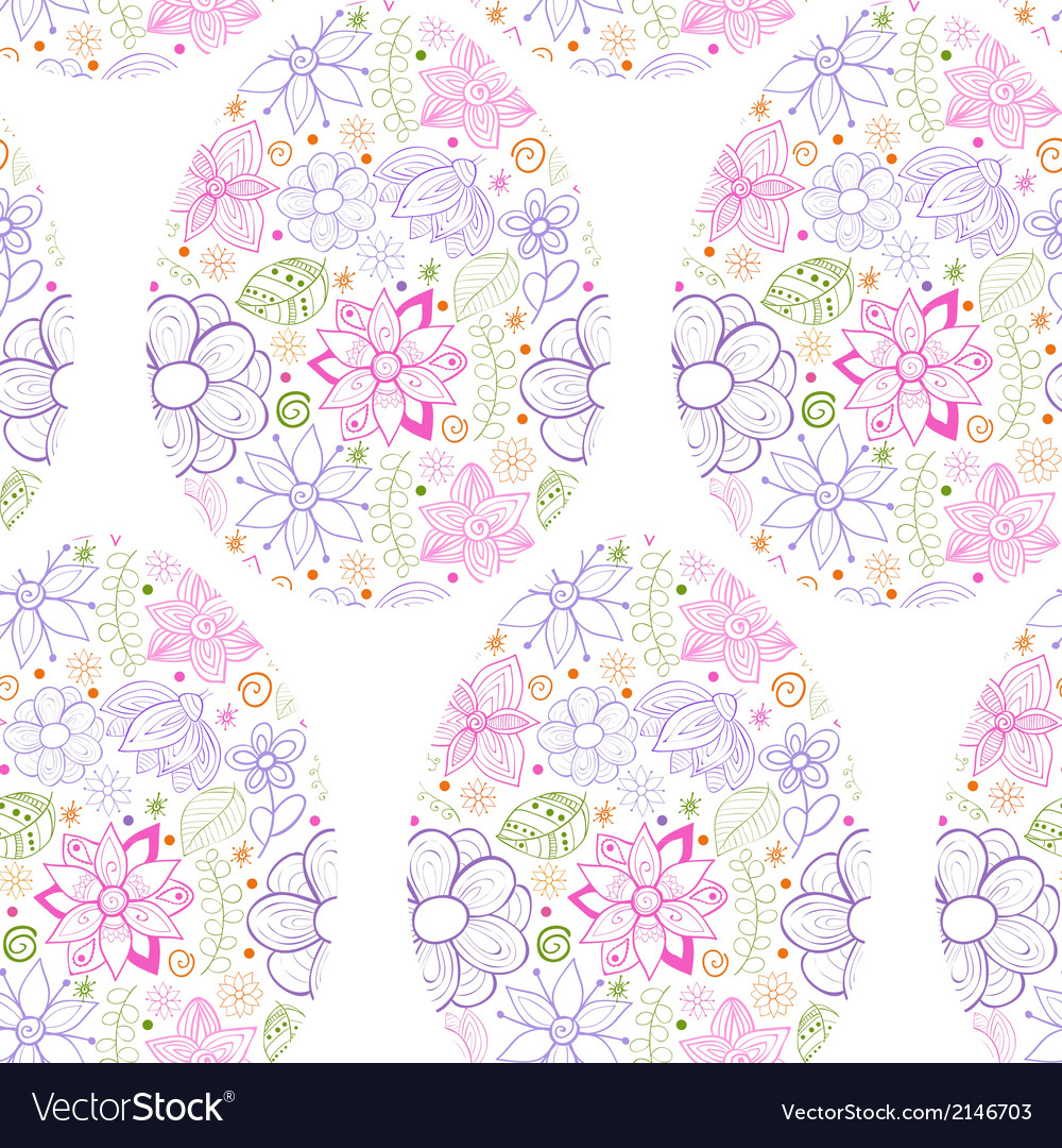 Easter eggs flowers background vector | Price: 1 Credit (USD $1)