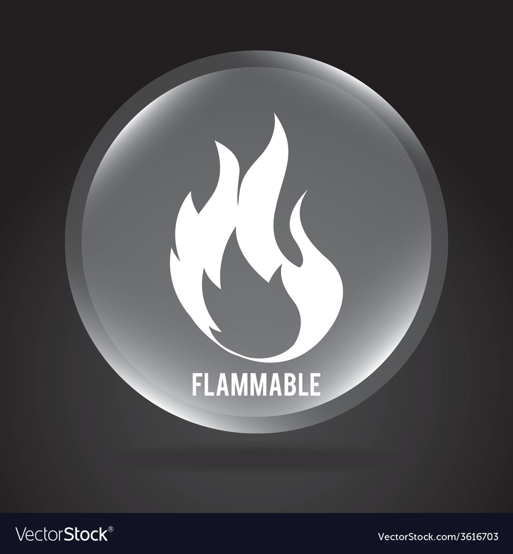 Flammable signal vector | Price: 1 Credit (USD $1)