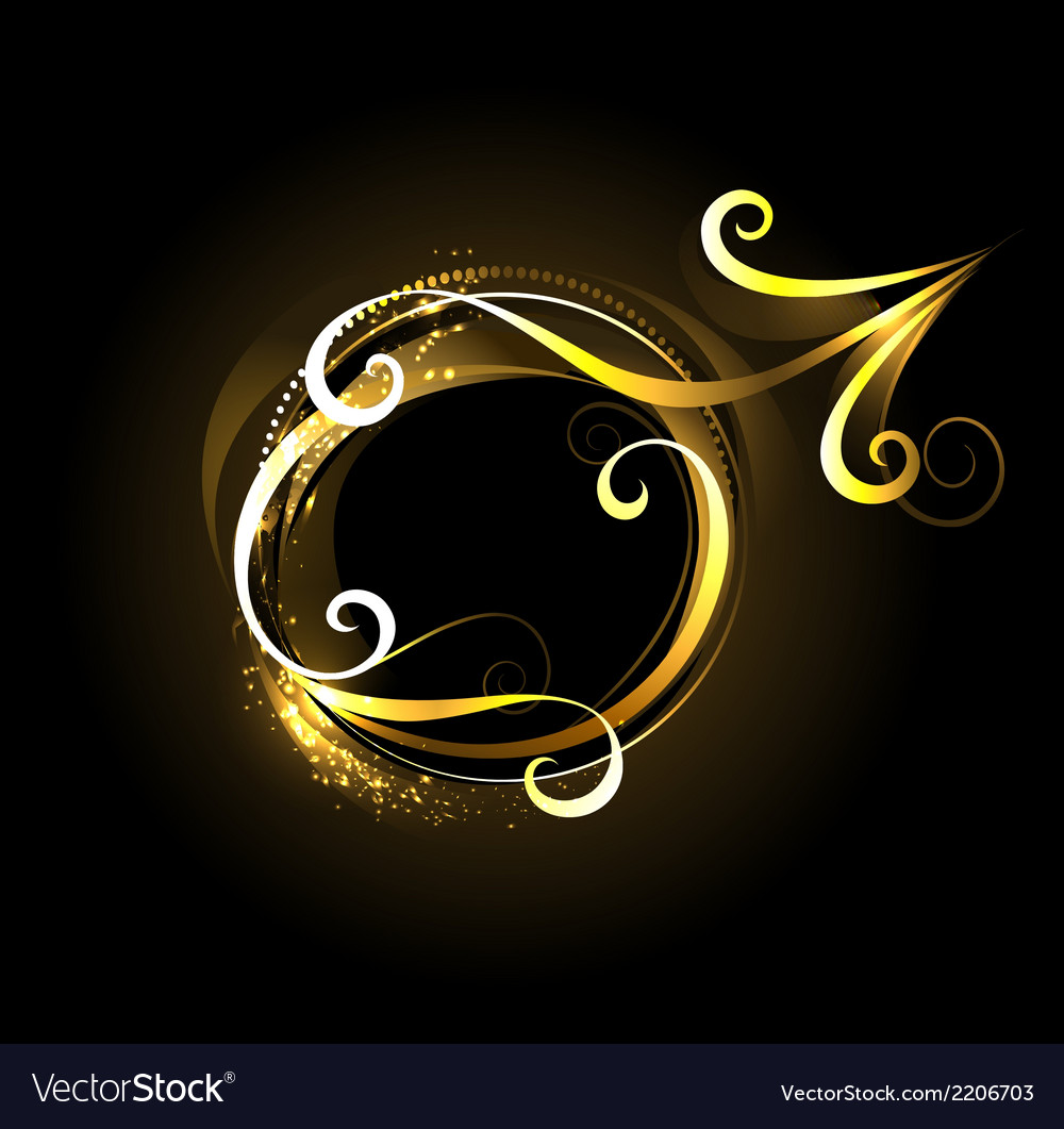 Golden symbol of mars vector | Price: 1 Credit (USD $1)